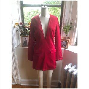 NWOT Nasty Girl- Red Tuxedo Dress